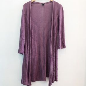 Torrid Purple Pointelle Longline Cardigan